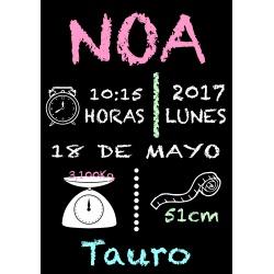 Cartel de Fiesta Pizarra