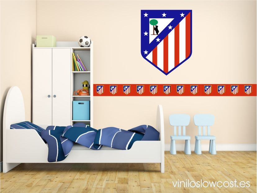 Vinilo cenefa 0010 atletico de madrid roja - Vinilos pared madrid ...